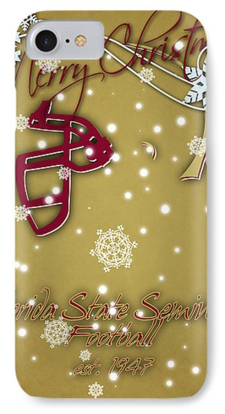 Florida State Seminoles Christmas Card 2 IPhone 7 Case by Joe Hamilton