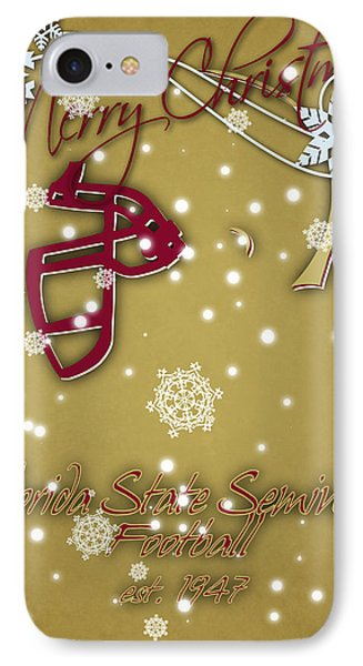 Florida State Seminoles Christmas Card 2 IPhone Case by Joe Hamilton