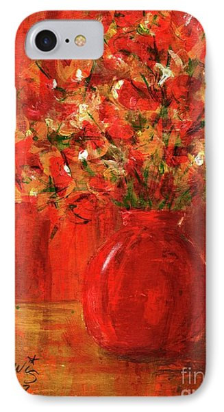 IPhone Case featuring the painting Florists Red by P J Lewis