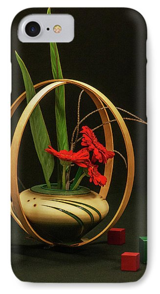 IPhone Case featuring the photograph Flow Ikebana by Carolyn Dalessandro