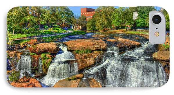 Flow On Reedy River Falls Park Art Greenville South Carolina Art IPhone Case