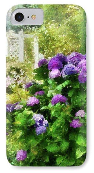Flower - Hydrangea - Lovely Hydrangea  Phone Case by Mike Savad