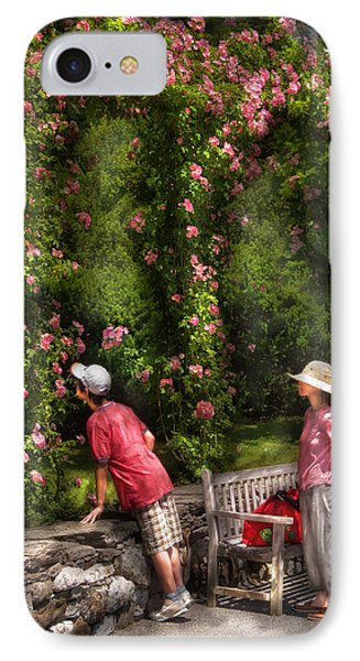 Flower - Rose - Smelling The Roses Phone Case by Mike Savad
