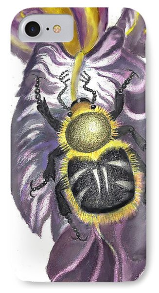 IPhone Case featuring the painting Flower Beetle by Dawn Senior-Trask