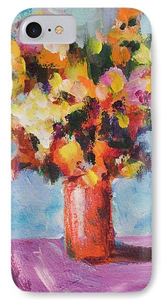 Flower Bouquet In Red Vase IPhone Case
