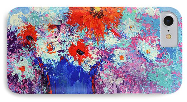 Flower Bouquet Modern Impressionistic Art Palette Knife Work IPhone Case by Patricia Awapara