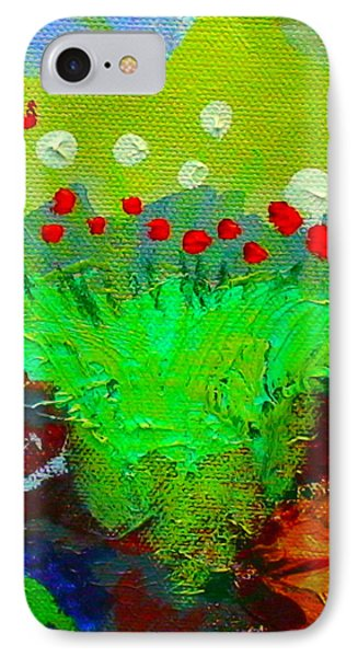 IPhone Case featuring the painting Flower Buds Detail From The Fairy Queen by Angela Annas