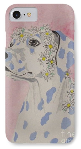 IPhone Case featuring the painting Flower Dog 2 by Hilda and Jose Garrancho