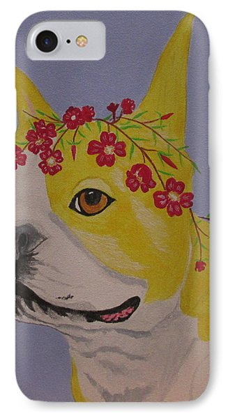 IPhone Case featuring the painting Flower Dog 5 by Hilda and Jose Garrancho