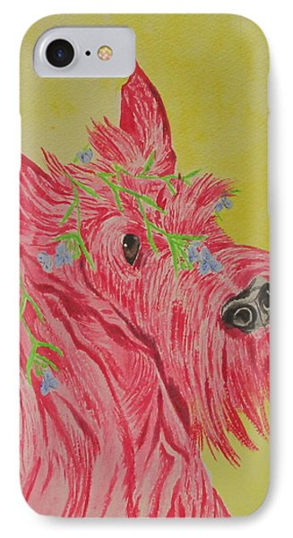 IPhone Case featuring the painting Flower Dog 6 by Hilda and Jose Garrancho