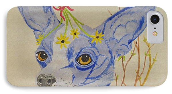IPhone Case featuring the painting Flower Dog 7 by Hilda and Jose Garrancho