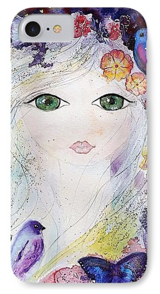 Flower Fairy Phone Case by Nino Gabashvili