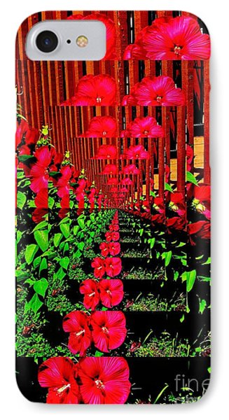 Flower Garden Abstract IPhone Case by Marsha Heiken