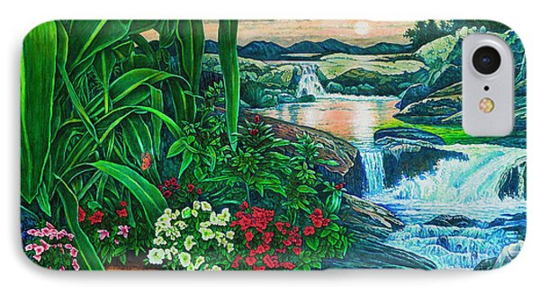 Flower Garden Ix IPhone Case by Michael Frank