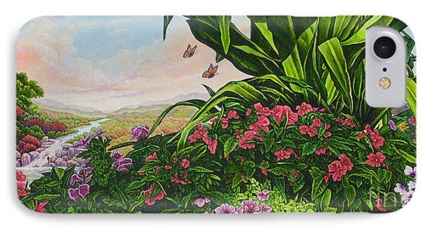 Flower Garden Vii IPhone Case by Michael Frank