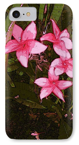 IPhone Case featuring the digital art Flower Gems by Winsome Gunning