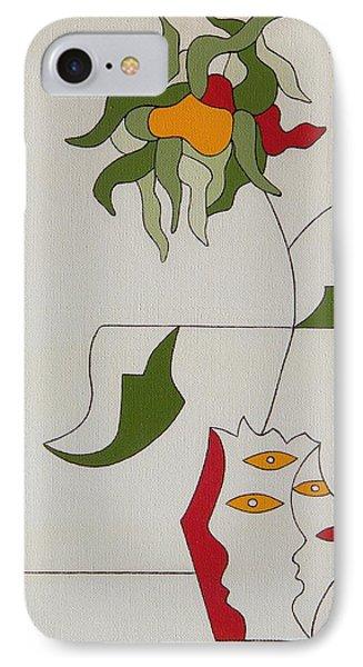 Flower Phone Case by Hildegarde Handsaeme