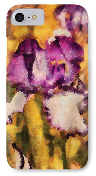 Flower - Iris - Diafragma Violeta Phone Case by Mike Savad