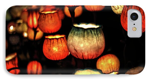 Flower Lamps IPhone Case by Carol Crisafi