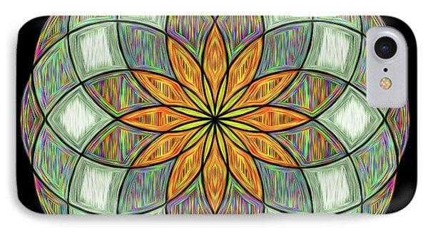 IPhone Case featuring the digital art Flower Mandala Painted By Kaye Menner by Kaye Menner