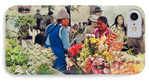Flower Market - Cuenca - Ecuador IPhone Case