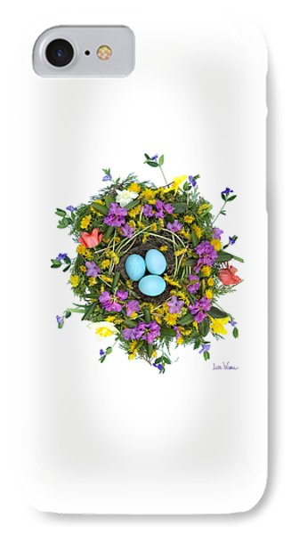 IPhone Case featuring the digital art Flower Nest by Lise Winne