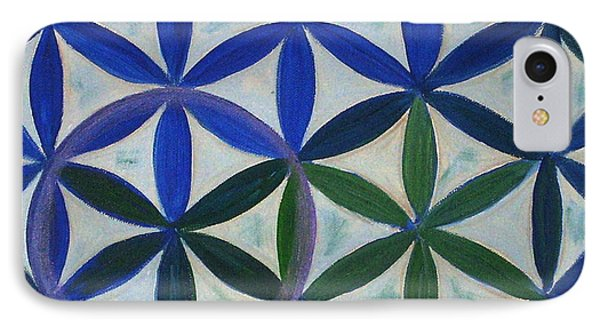 Flower Of Life Pattern Phone Case by Art by Kar