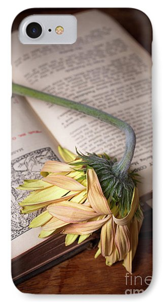 Flower On Old Bible IPhone Case
