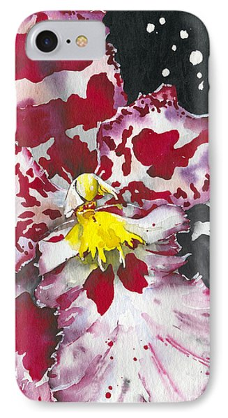 IPhone Case featuring the painting Flower Orchid 11 Elena Yakubovich by Elena Yakubovich