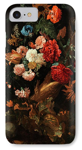 Flower Plot With Gelbbauchunke And Snake IPhone Case by Ernst Stuven