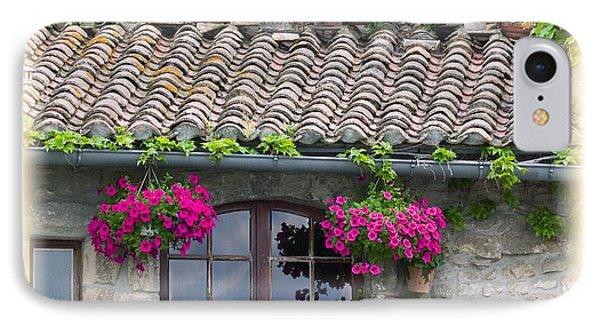 Flower Pots In Windows In Arles Phone Case by Carson Ganci