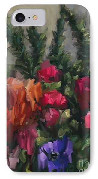 Flower Run IPhone Case by Carrie Joy Byrnes
