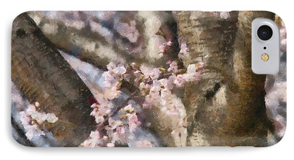 Flower - Sakura - Spring Blossom Phone Case by Mike Savad