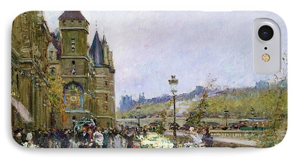 Flower Sellers By The Seine IPhone Case