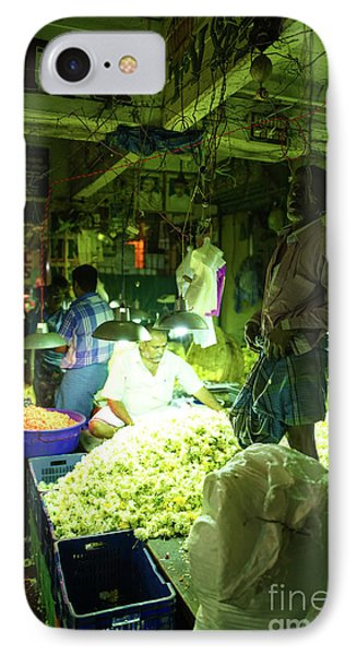 IPhone Case featuring the photograph Flower Stalls Market Chennai India by Mike Reid
