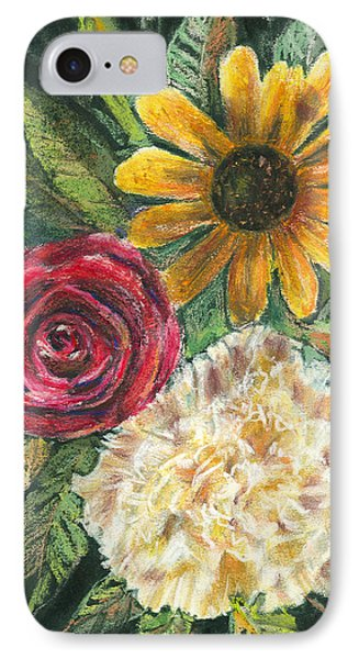 Flower Trio Phone Case by Arline Wagner