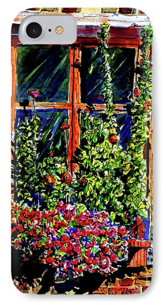 Flower Window IPhone Case by Terry Banderas
