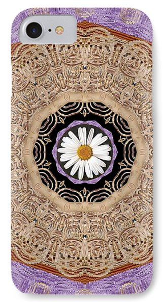 Flower With Wood Embroidery IPhone Case