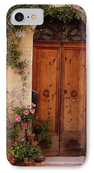 Flowered Tuscan Door IPhone Case