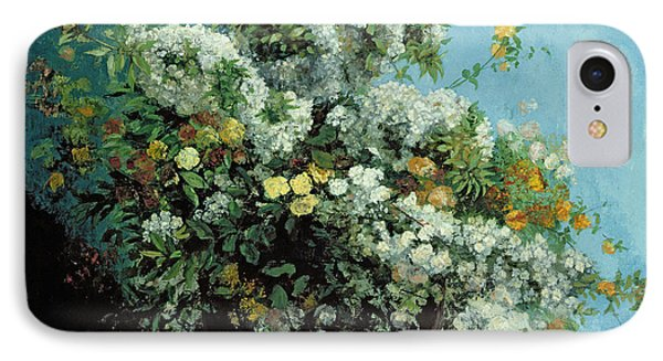 Flowering Branches And Flowers Phone Case by Gustave Courbet
