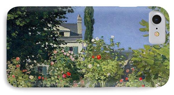 Flowering Garden At Sainte-adresse Phone Case by Claude Monet