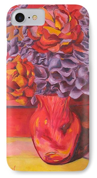 Flowering Orange Phone Case by Lisa Boyd