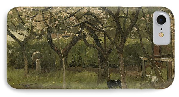 Flowering Trees In An Orchard IPhone Case
