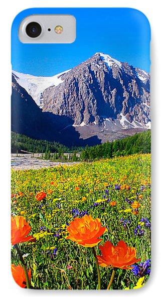 Flowering Valley. Mountain Karatash IPhone Case