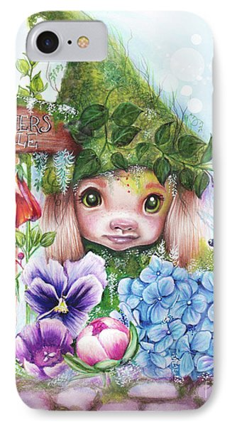 IPhone Case featuring the mixed media Flowers 4 Sale - Garden Whimzies Collection by Sheena Pike