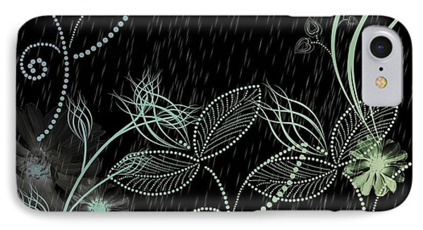 Flowers And Rain IPhone Case by Carol Crisafi