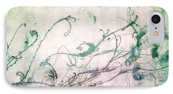 Flowers And Vines Two Phone Case by Tomislav Neely-Turkalj