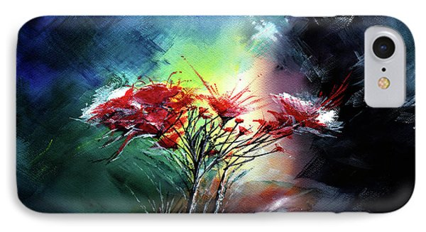 IPhone Case featuring the painting Flowers by Anil Nene