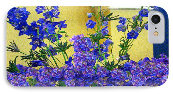 Flowers At The Wall IPhone Case by Merton Allen