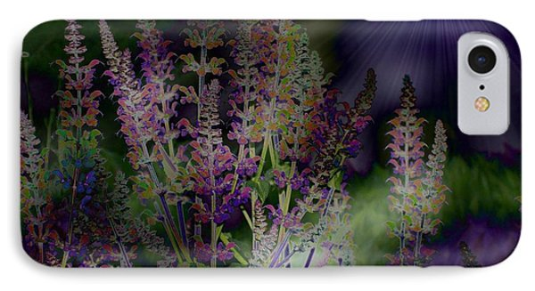 Flowers By Moonlight IPhone Case by Barbara S Nickerson